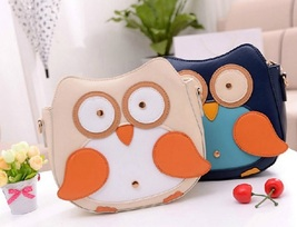 2015 Women Owl Pattern Faux Leather Small Cross Body Bag Shoulder Bag Ap... - $17.83 CAD