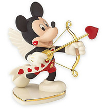 Lenox Disney Mickey's Valentine For You Cupid with Arrow 852409 New in Box - £40.58 GBP