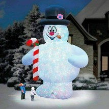 Outdoor Inflatable Christmas Yard Decor Lighted Frosty The Snowman Candy... - $424.99