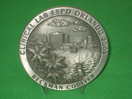 Pewter Medal Souvenir Stand - Clinic Lab Expo Orlando 2005 from Beckman ... - $12.82
