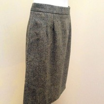 New Kilkenny S Skirt Green Beige Tweed Pure Wool Pencil Career Made in I... - $31.34
