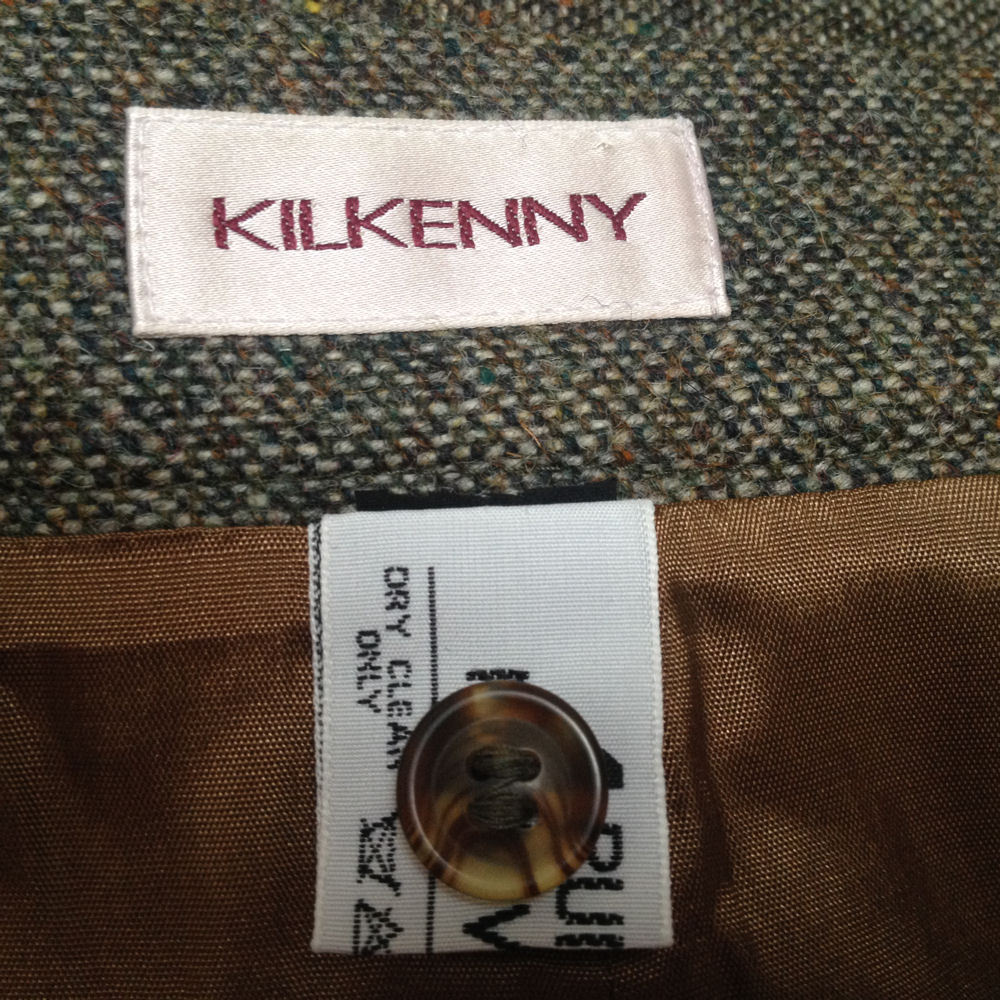 New Kilkenny S Skirt Green Beige Tweed Pure Wool Pencil Career Made in Ireland image 4