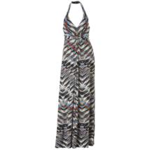 Women's Jessica Simpson Print Halter Maxi Dress XS #NHWE5-M143 - $59.99