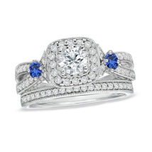 Women's Love Collection Solid 925 Sterling Silver Engagement Bridal Ring... - £91.14 GBP