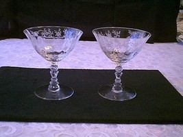 Fostoria Chintz Low Sherbets/Champagne Lot Of 2 - $24.75
