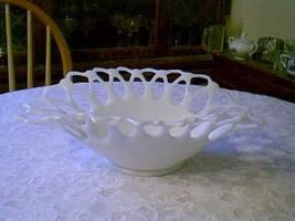 Beautiful Milk Glass Lacy Bowl Westmoreland - $29.70
