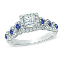 Love Collection Jewelry Created Diamond Sterling Silver Wedding Engageme... - £69.90 GBP