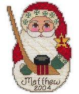 Charlette's Collectibles Hockey Santa ornament kit - $3.00