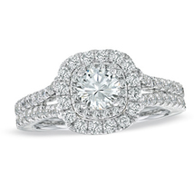 14k White GP Sterling Silver Wedding Engagement Ring Round Lab Created D... - £74.67 GBP