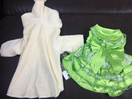 Dog Clothes XS Lot of 2 Green Dress & Yellow Robe New With Tags! - $13.89