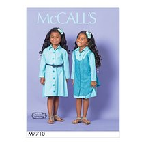 McCall Patterns M7710CL0 Children/Girls' Dress and Pinafore - $2.93