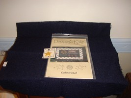 Lizzie Kate Cross Stitch Celebrate #030 Plus Button And Fabric  - $20.99