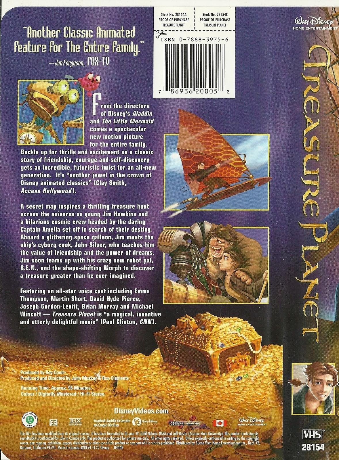 treasure planet vhs walt disney animated vhs tapes