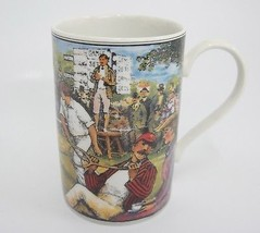 Dunoon History of Tennis Mug 1877 Wimbledon Made in Scotland - $16.42