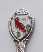 Collector Souvenir Spoon USA Ohio Cardinal Cloisonne Emblem - $2.99