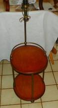 Light Oval Cherry & Brass Lamp Table  (CS) - $299.00