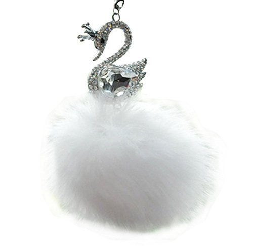 PANDA SUPERSTORE Elegant Ornaments, Art Car Charm Pendant (Swan Best Wishes), Wh