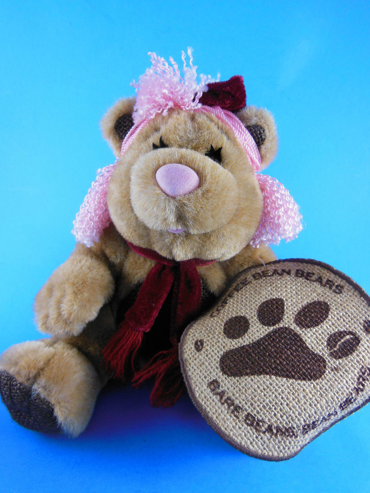 "Primary image for Coffee Bean Teddy Bears Plush Hazel The Nut 7"" sitting size Hard to Find W  tag"