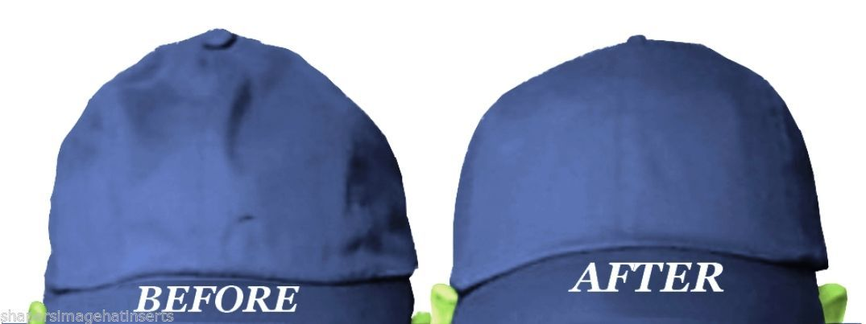 3Pk BLACK-LARGE Baseball Cap Crown Insert & Panel Shape Combo| Flexfit Hat Liner