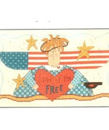 Land Of The Free Angel patriotic cross stitch chart Imaginating - $2.50