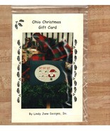 Ohio Christmas Gift Card santa OOP cross stitch chart Erica Michaels - $2.50