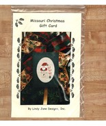 Missouri Christmas Gift Card santa OOP cross st... - $2.50
