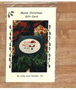 Maine Christmas Gift Card santa OOP cross stitch chart Erica Michaels - $2.50