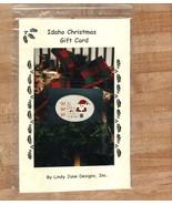 Idaho Christmas Gift Card santa OOP cross stitc... - $2.50