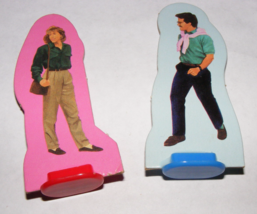1990 Meet Me At The Mall Game Mom and Dad Pieces - $8.00