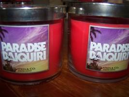 Lot of 2 Bath & Body Works Slatkin & Co Paradise Daiquiri Scented Candle... - €16,24 EUR