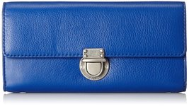 Fossil Sapphire Sydney Man Made Zipper Closure Signature Clutch Wallet - $159.99