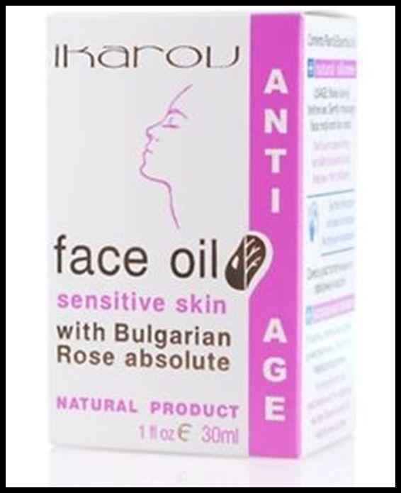 IKAROV Face Oil Sensitive Skin With Bulgarian Rose Anti - Age 100% Natural 30ml - $7.28