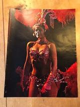 "VINTAGE 1963 COLOUR PHOTO OF A LAS VEGAS CAN-CAN GIRL DANCER (13"" x 10.25"") - $3.99"