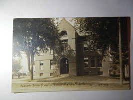 Real Photo RPPC Post Card South Side Public School Colchester IL - $10.00