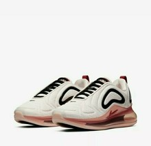 Nike Women's Air Max 720 Shoes full bubble Light Soft Pink/Gym Red AR929... - $109.19