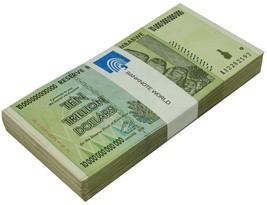 Zimbabwe 10 Trillion Dollars X 100 Pieces (PCS),AA/2008, P-88, USED,Bundle - $1,948.99