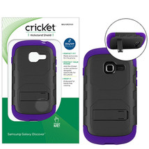 Cricket Purple EcoSmart Kickstand Shield Hard Case for Samsung Galaxy Di... - $5.99
