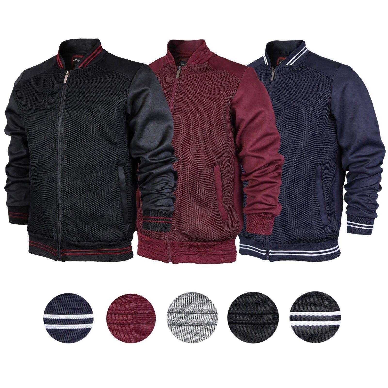 Maximos USA Men's Stylish Lightweight Multi Pocket Mesh Track Bomber Jacket