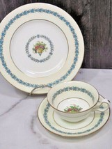 Wedgwood Appledore Trio Cup Saucer Dessert Plate  - $43.56