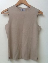 Collection By Cherokee Womens Size S Tan Beige Sleeveless Sweater Vest Top - $12.95
