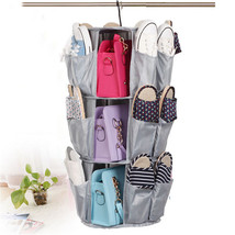 3 Layer Round Rotatable Shoes Wardrobe Storage Cabinet Hanging Storage Bag - €18,14 EUR