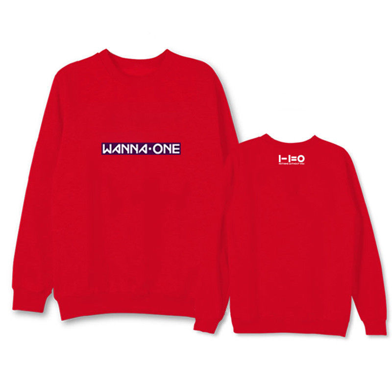 KPOP WANNA ONE Sweater 1-1=0 Ablum Pullover Nothing without you  Casual Unisex