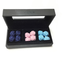 Bloomingdale's Graytok Collar Company  Men's Round Knot Cufflinks set of 3 boxed - $16.82