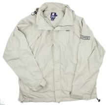 VTG Chaps Ralph Lauren Mens Beige Spellout Windbreaker Jacket Size Large - $23.21