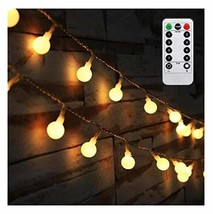 AMARS 16.4ft LED Globe String Lights Battery Operated with Remote Contro... - $12.74