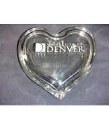 University of Denver Crystal clear glass heart trinket box  - $15.00