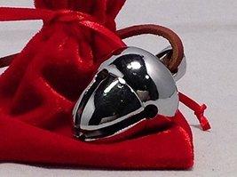 Elf Favorite Polar Double Chamber Silver Sleigh Bell From Santa's Sleigh W Velve