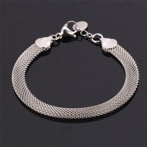 U7 Stainless Steel Bracelet Gold Color Resizable Snake Chain Bracelet Men Jewelr - $10.55