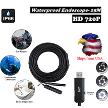 Pipe Inspection Camera 50 Ft Tube Sonde Sewer Drain Waterproof Endoscope... - $64.58