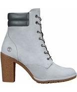 Timberland Women's Gray Tillston 6 inch High Heel Leather Boots Style A2DFG - $116.89